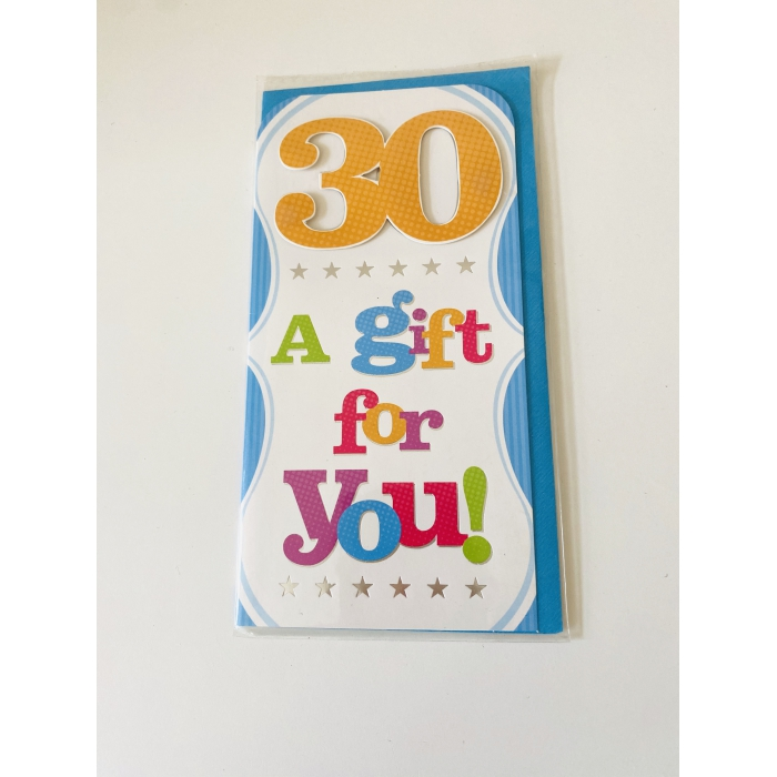 "Atvirutė ""30 A gift for you"""